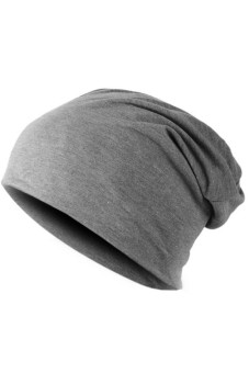 Unisex Hip-hop Beanie Hat Winter Hats Cap Dark Grey(Export)(Intl)