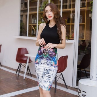 Versatile mid-length high-waisted Slim fit one-step skirt sheath half-length skirt