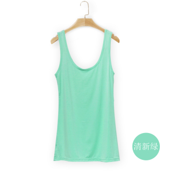 Wild modal female spring and summer bottoming shirt vest (Fresh green)