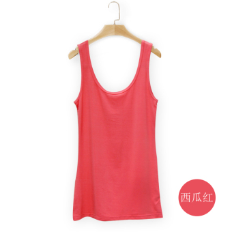 Wild modal female spring and summer bottoming shirt vest (Watermelon red)