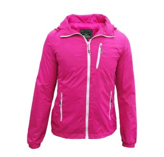Winning Lightweight Hooded Windbreaker Jacket Unisex (Pink ...