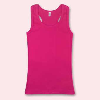 Women bottoming shirt inside the ride cotton vest ([Word] Rose)