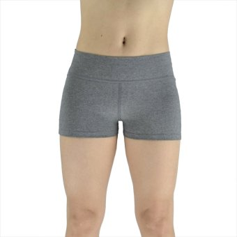 Women Shorts Stretched Sports Yoga Running Gym Fitness Short Pants(Grey) - Intl