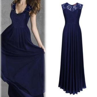 Womens Long Lace Evening Party Ball Gown Prom Bridesmaid Dress - intl