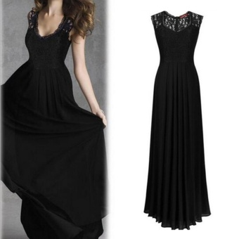 Womens Long Lace Evening Party Ball Gown Prom Bridesmaid Dress(Color:c2) - intl