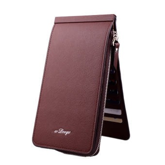 Women's multi-card bit Korean multi-function of documents bagwallet (Coffee color) (Coffee color)