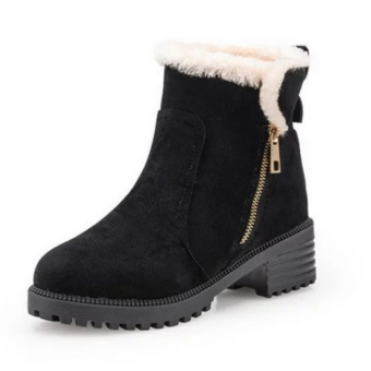 Women's Winter Snow Boots Female Students Plus Cotton Warm Boots(Black) - intl