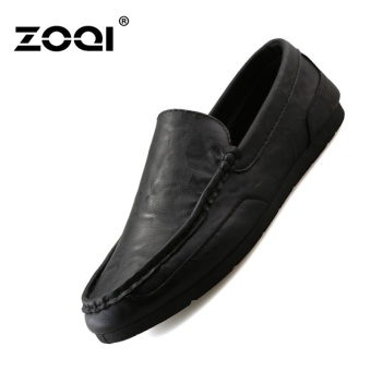 Harga ZOQI Men's Fashion Low Cut Casual Shoes Slip-Ons Loafers(Black) -intl