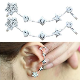 1 Pc Korea Fashion Soft Ear Stud Beautiful Star Ear Clip Earring