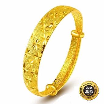 24K Gold Plated Stars On the Sky Bracelet Bangle - Intl