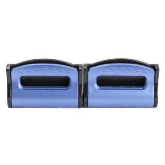 2pcs Seatbelts Clips Adjustable Stopper Plastic Clips for VehiclesBlue - intl