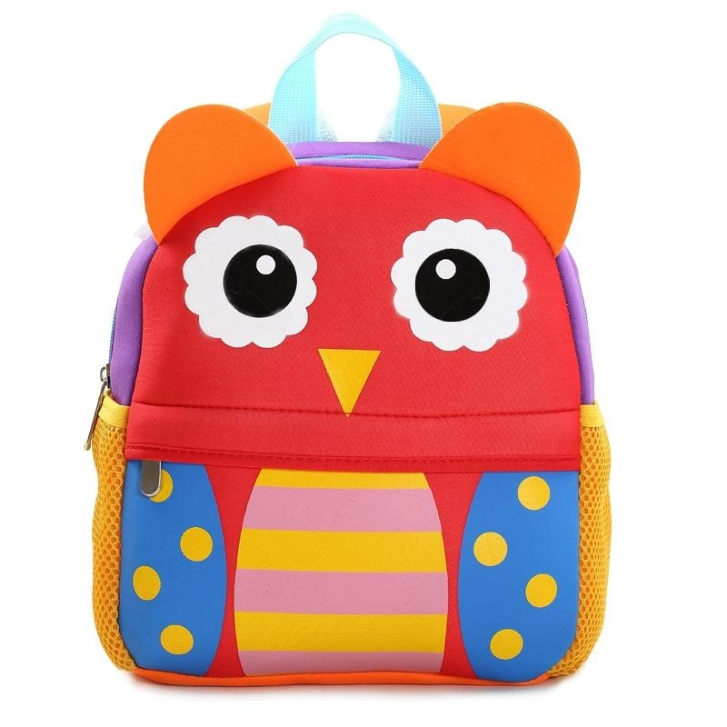 3D Cute Animal Backpack Kids School Bags - Owl - intl