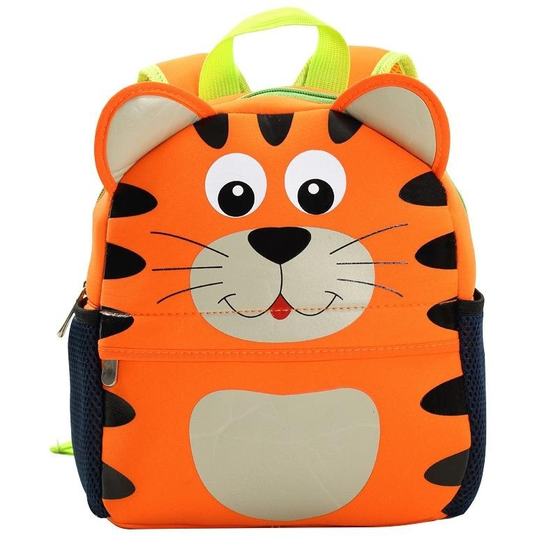 3D Cute Animal Backpack Kids School Bags - Tiger - intl