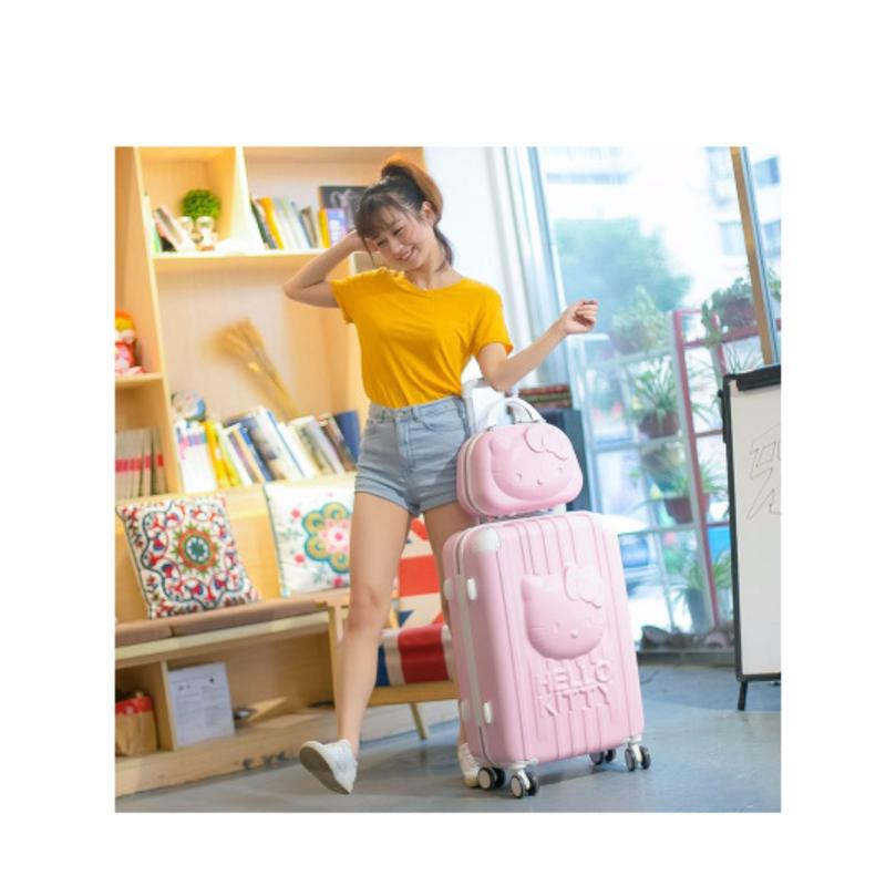 3D Hello Kitty Luggage (Pink) Size : 24inch