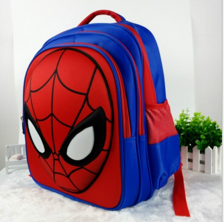3D Spider Man backpack kindergarten in class children's burdens schoolbag pupils boy 1-3-6 grade shoulder bag