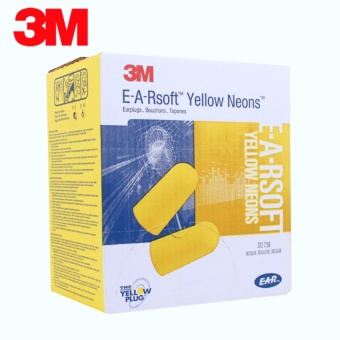 3M(TM) E-A-R soft 312-1250 Yellow Neons Uncorded Ear Plugs - 10pairs/pack