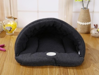 Harga 68 * 58cm Pet Supplies Kennel House Beds Removable Wash Pet NestCat Litter Slippers Cushion Grey - intl
