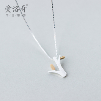 A'ROCH Korean-style female silver gold plated choker necklace