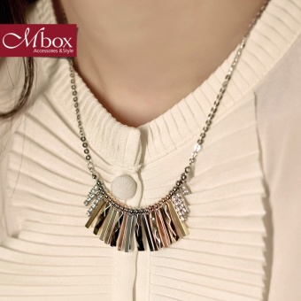 Autumn and Winter Korean-style female choker rose gold necklace