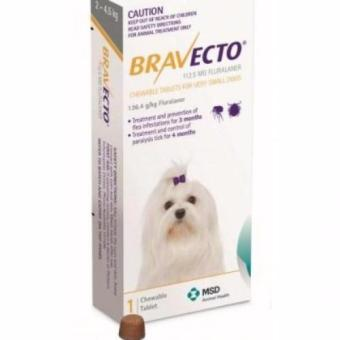 Bravecto Chew Tablet For Very Small Dogs 2-4kg