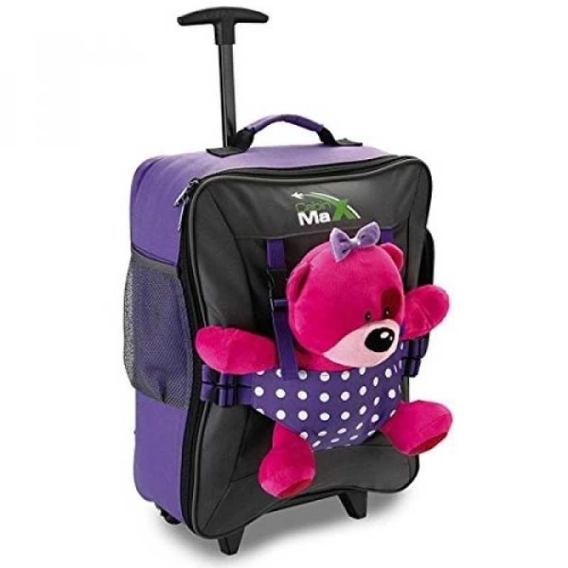 Cabin Max Bear Childrens Luggage Carry on Trolley Suitcase (Purple) - intl