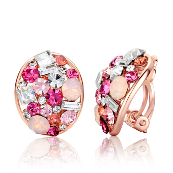 Carlo us Shishang female crystal ear clip earrings