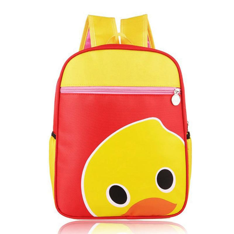 Cartoon Pattern Kids Child Nylon Waterproof Small Schoolbag School Bag Backpack Duck