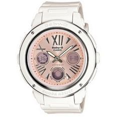 Casio Baby G BGA152 7B2 Analog-Digital Womens Watch (White Bezel Pink Dial)
