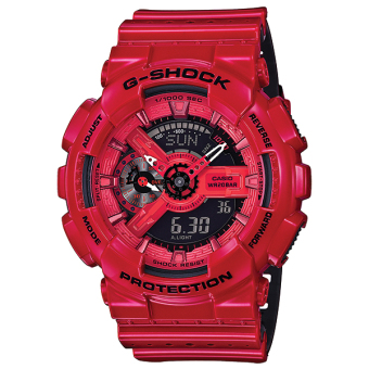 Casio G-Shock Special Color Models Red Punching Pattern Series Watch GA110LPA-4A