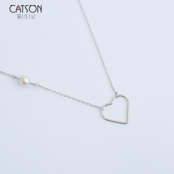 Cat sterling silver lovely necklace