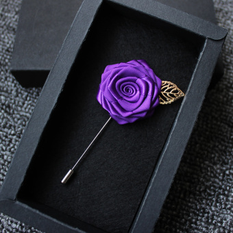 Collar pin collar flower lapel rose flower shirt handmade brooch