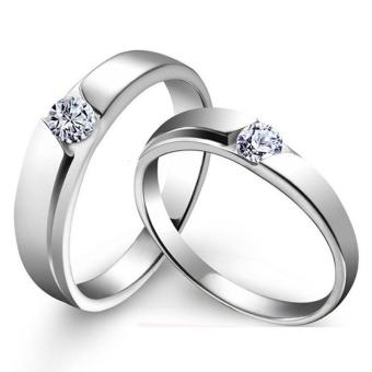 Couple Rings Jewellry 925 Silver Adjustable Lovers Ring JewelryE030 - intl