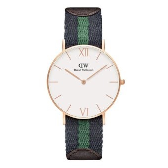 Harga Daniel Wellington Blue/Dark Green Nato Strap Watch Grace Warwick36mm