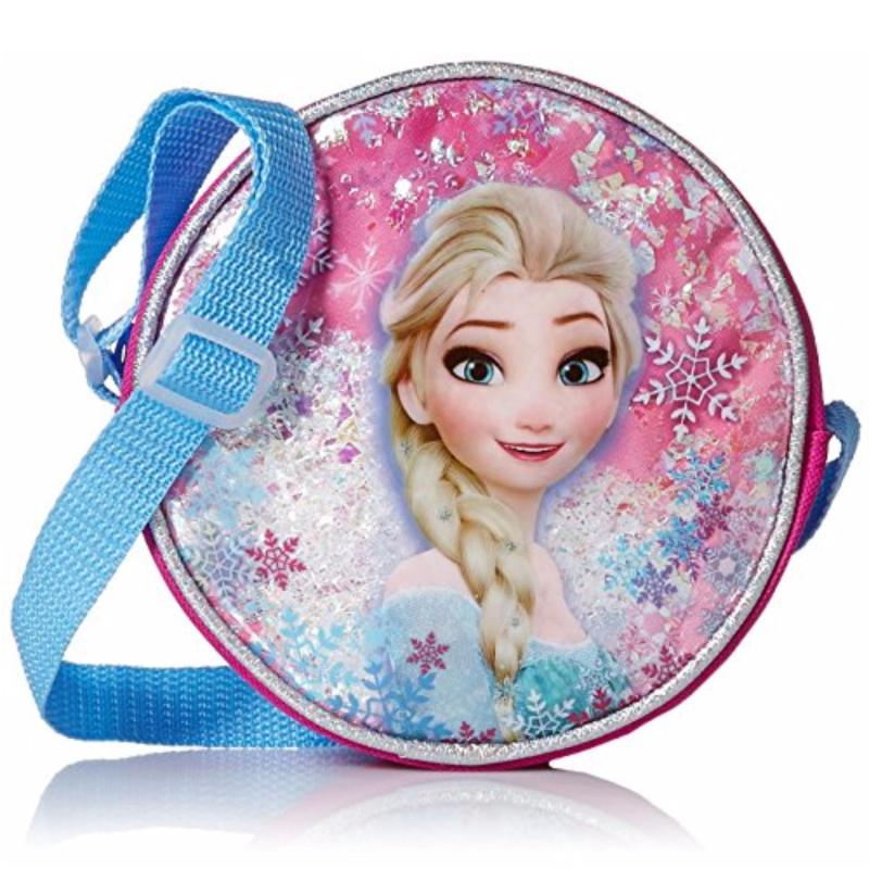 Disney Girls' Frozen Elsa canteen crossbody bag blue red