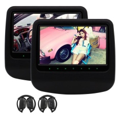 EinCar Black Car Headrest DVD Player x2 9'' Digital Display Screen Rear-Seat