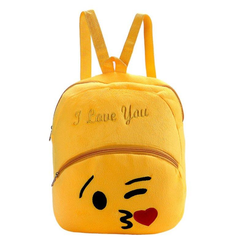 Fashion Smiley Face Emoji School Bag Children Backpack(Kiss)(Export)