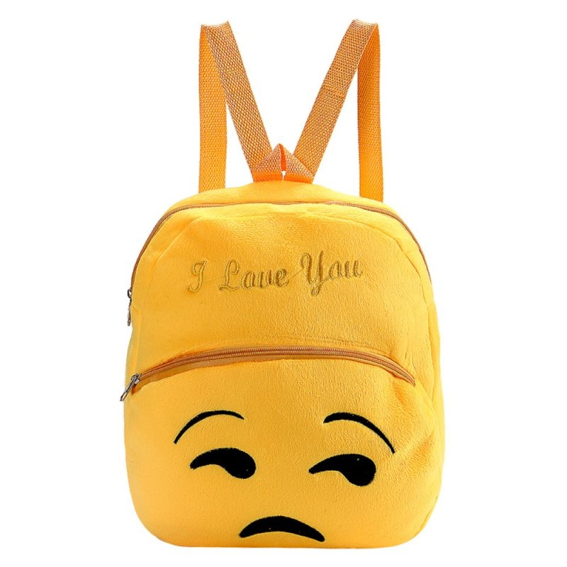 Fashion Smiley Face Emoji School Bag Children Backpack(Oops)