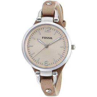 Fossil Watch Georgia Brown Stainless-Steel Case Leather Strap Ladies NWT + Warranty ES2830 ...