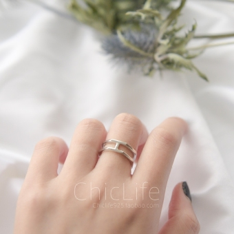 H s925 type hexagonal pole simple ring opening ring