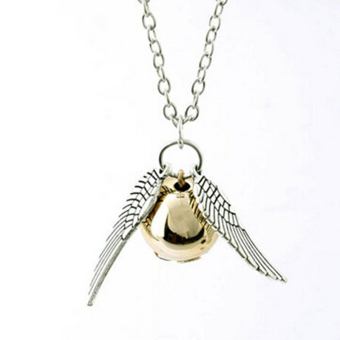 Hanyu Harry Potter Golden Snitch Quicksilver Golden Pearl Necklace - 2
