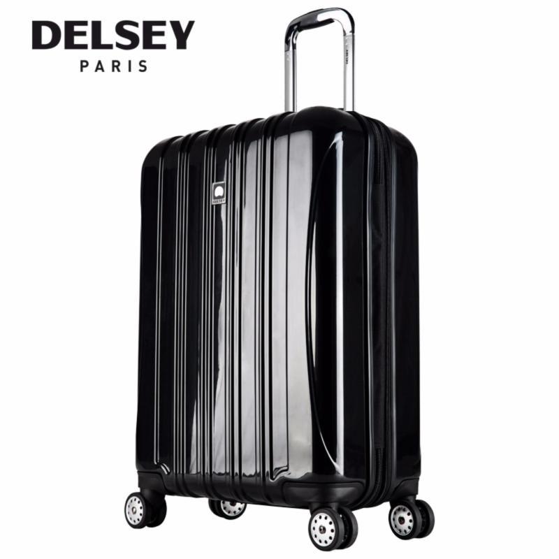 Helium Aero 81CM Large 4 Wheel Expandable Hard Case Trolley TSA - (Black)