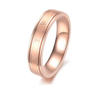 Harga Lady's Cute Roman Numerals Ring(Rose Gold)(Intl)