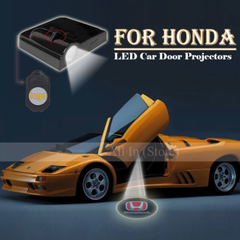 Harga 2Pcs Car Door Projector Welcome Lights for(HONDA)- No Drilling Required - intl