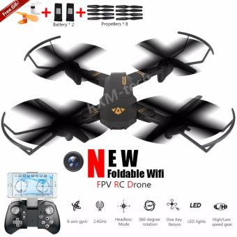 Harga 2017 New Foldable R/C Drone with 2.4G Wifi FPV 720P HD Camera Altitude Hold & Headless Mode RC Drone VS JJRC H37 DJI Mavic Pro - intl