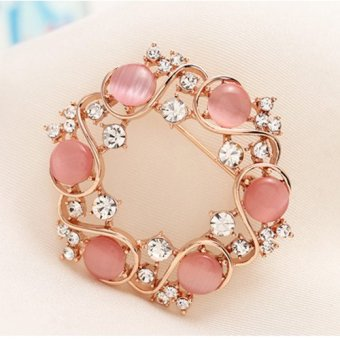 Harga Decorated with good wild diamond wreath alloy PIN boutique corsage