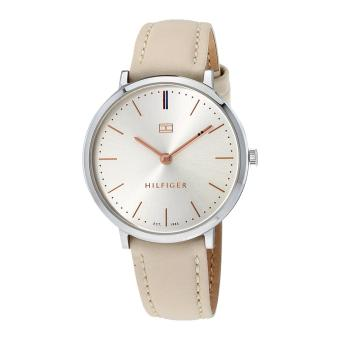 Harga Tommy Hilfiger Watch Ultra Slim beige Stainless-Steel Case Leather Strap Ladies NWT + Warranty 1781691