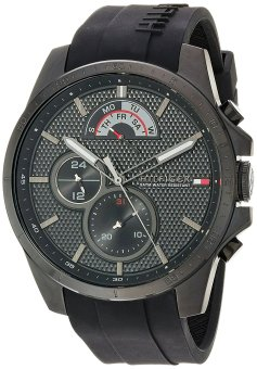 Harga Tommy Hilfiger Cool Sport Black Silicone Band Watch 1791352