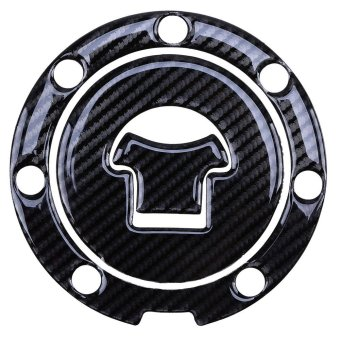 Harga 1Pcs Oil Gas Tank Carbon Fiber Fuel Pad Cover Protector Sticker For Honda CBR250R - intl