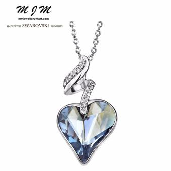 Harga Swarovski Elements Sweet Heart Crystal Necklace