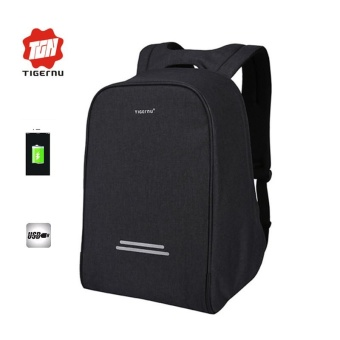 Harga 2017 New Tigernu 15.6inch Anti-theft Laptop Backpack External USB Charging Business Laptop Backpack Multifunction Travel Bags - intl